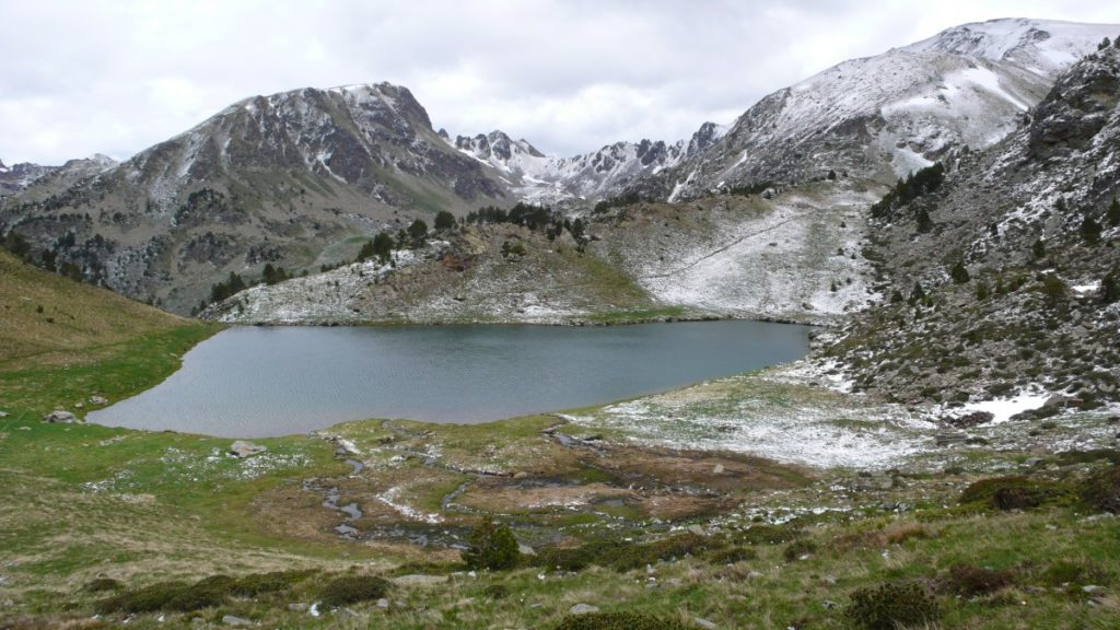 Seeing a glacier-fed lake is one of best selling features for any hiking vacation to Andorra.