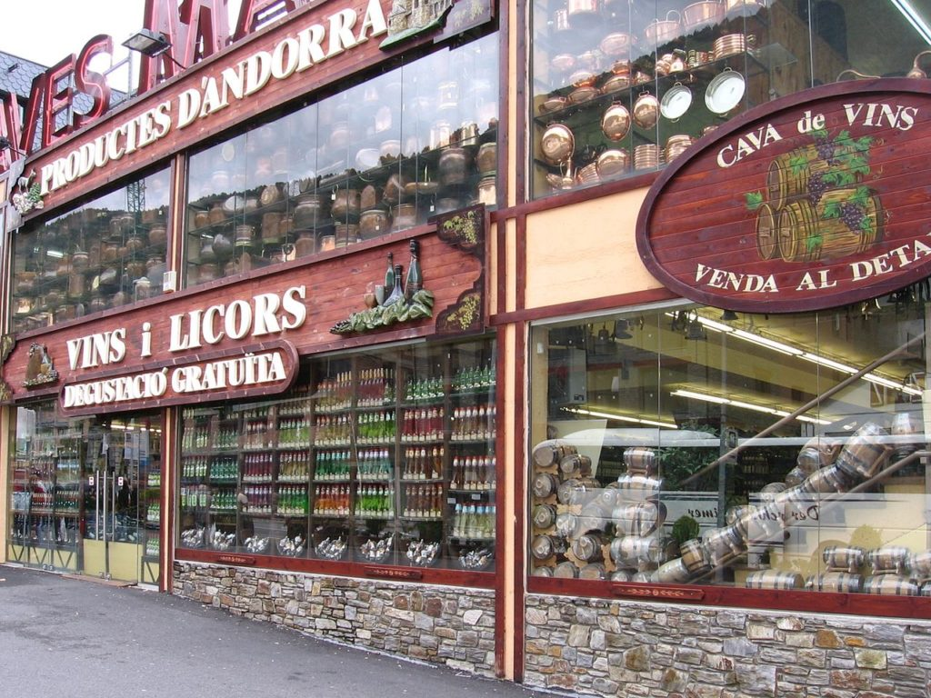 Many Andorra shopping options focus specifically on wine, liquor and tobacco.