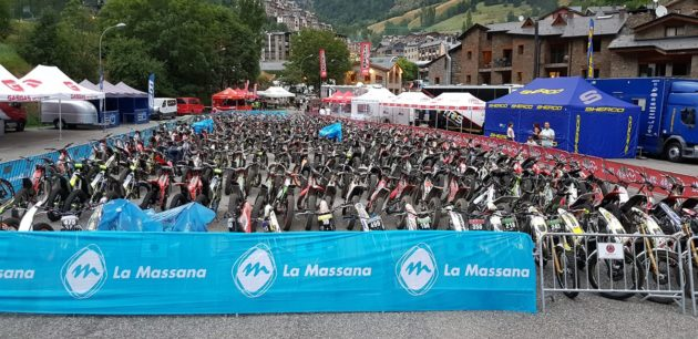 Bikes ready and waiting for the Arinsal 2 Day Trial