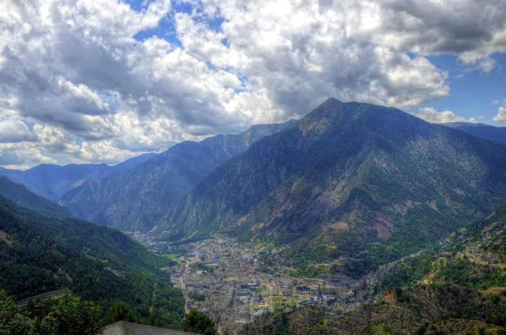 Even Andorra la Vella, the principality's biggest city, is nestled right at the foot of several mountains.