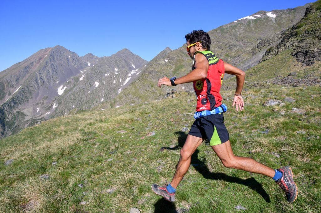 A male athlete participates in the SkyRace Comapedrosa.