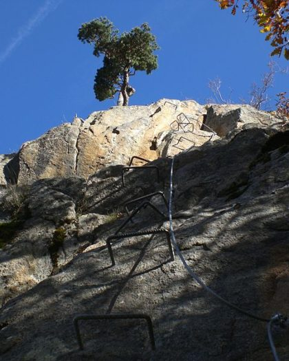 Via Ferrata Looking Up