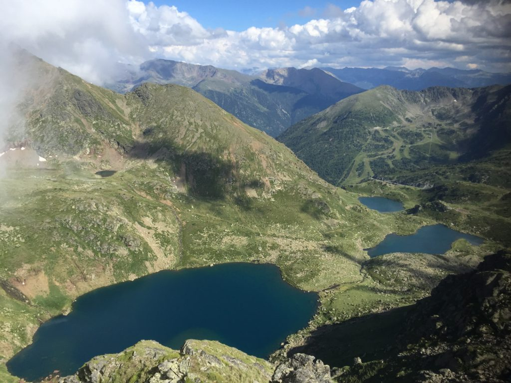 The chance to see mountain lakes at such a high elevation is a rare opportunity and the Tristaina Lakes region is one of the most popular hiking destinations in Andorra.